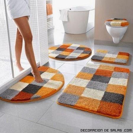 alfombrillas modernas para baños