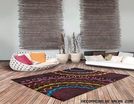 decoración de salones con alfombras