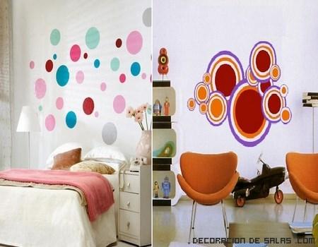 decoración moderna con círculos de colores