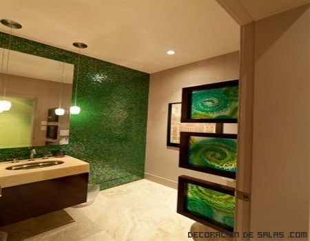 Paredes de baño en verde