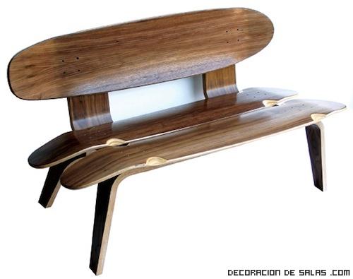 bancos de madera originales