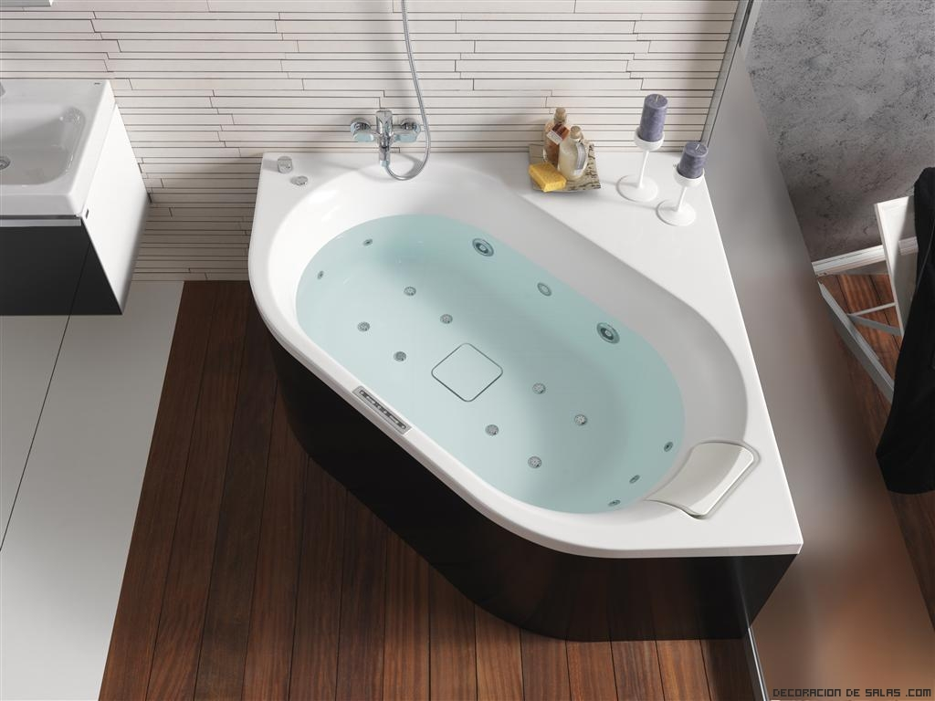 baños elegantes con bañeras de rincón