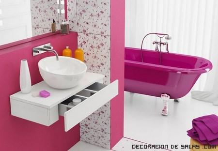 paredes de baño con estampados