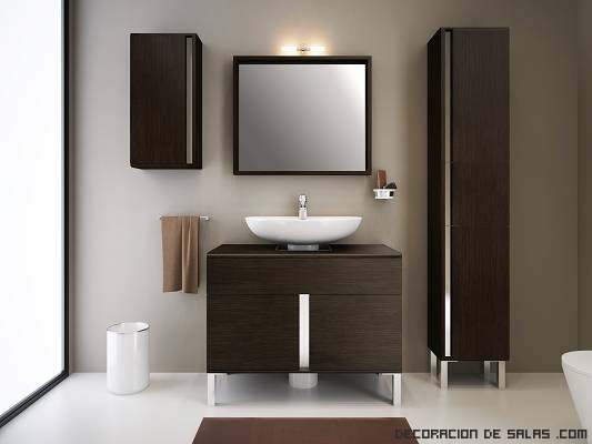lavabos modernos en wengué