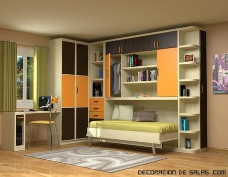 Muebles juveniles con cama plegable