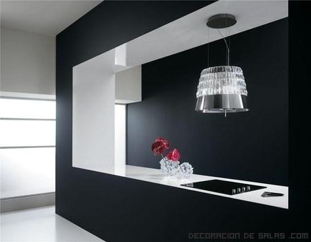 cocinas elegantes en blanco y negro