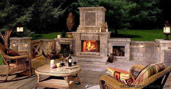 chimeneas vintage para jardín