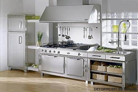 cocina antigua acero