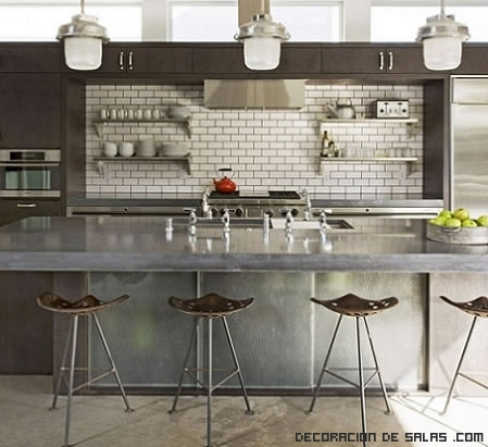 cocinas en colores grises