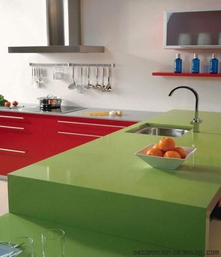Combinar colores en la cocina