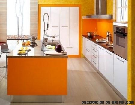 Cocinas con colores