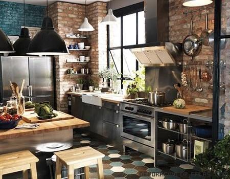 cocinas inspiradas en fábricas