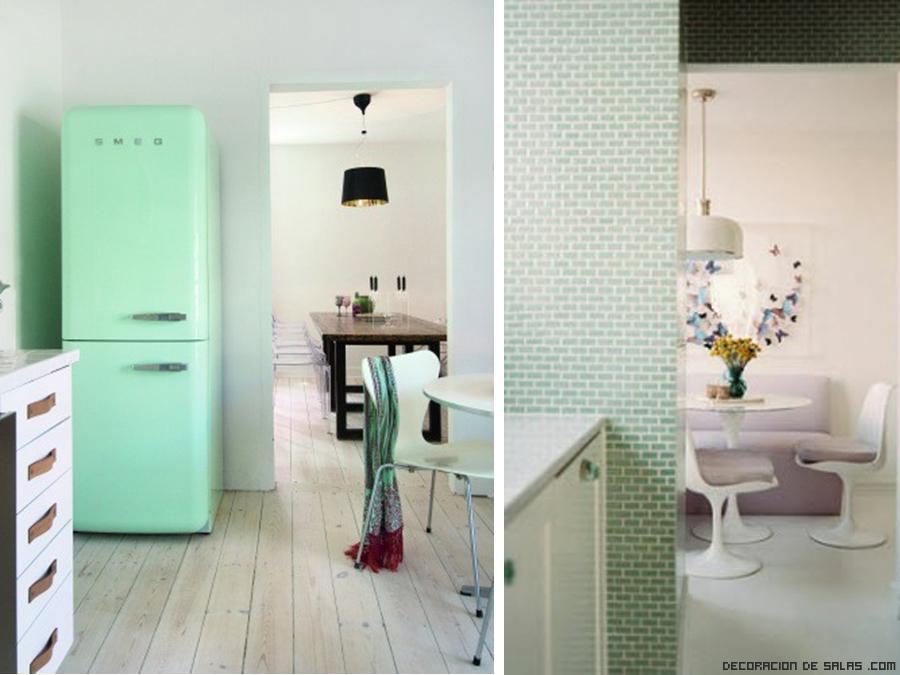 electrodomésticos en color verde