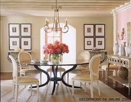 Comedores con mesas redondas