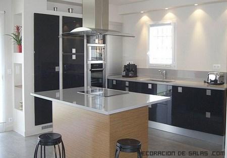 cocinas modernas en negro