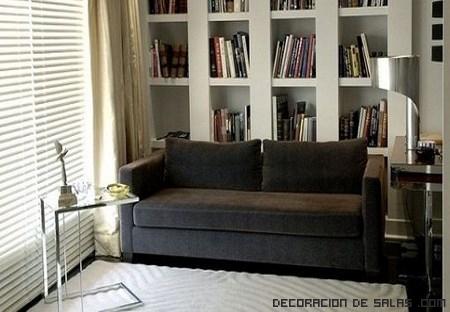 muebles en salones cuadrados