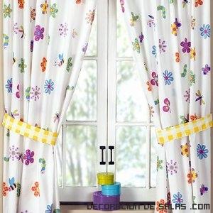 cortinas de colores para cuartos infantiles
