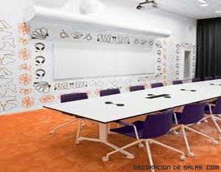 salas de colores anaranjados