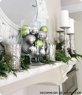 decoración navideña con bolas
