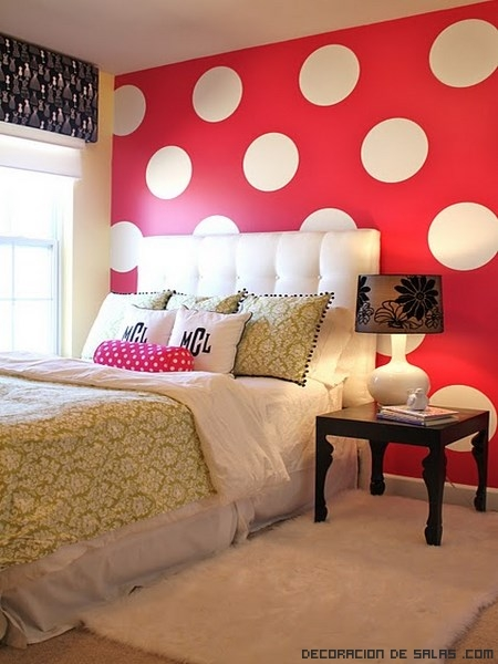 habitaciones en color rojo