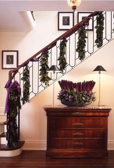 escaleras con flores