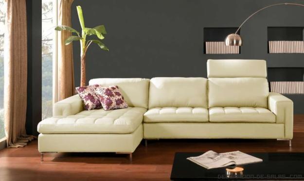 sofás color crema en cuero