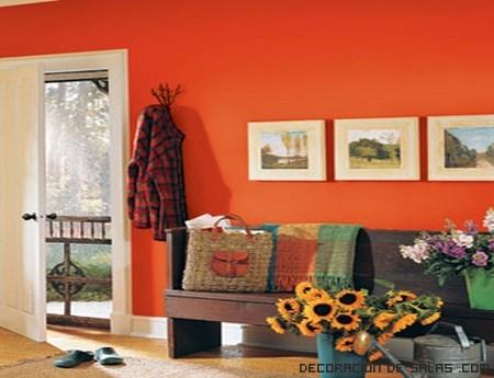 color naranja para salones