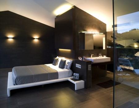 habitaciones en colores oscuros