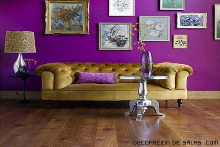 mezcla de colores en el salón