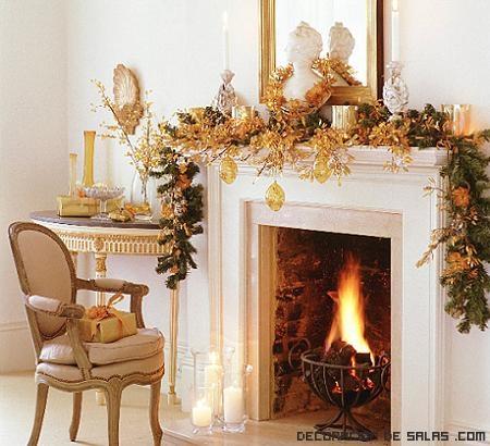 decoración navideña con velas
