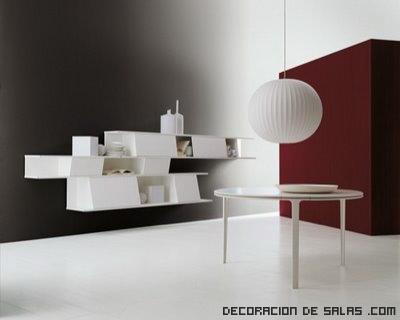 Salones minimalistas en blanco