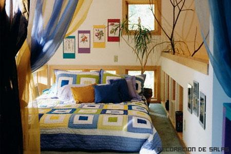 Dormitorio con planta