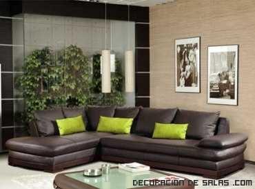sofás marrón de cuero