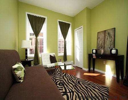 Habitaciones en color verde
