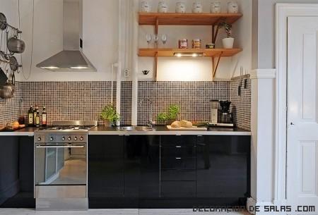 cocinas de colores modernas