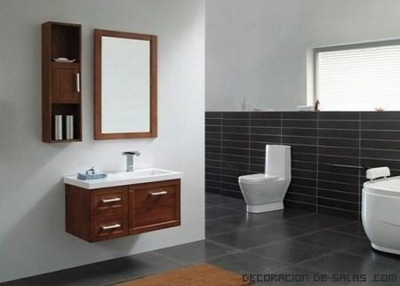 Baños en color madera