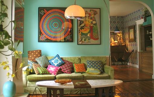 Muebles de colores vintage