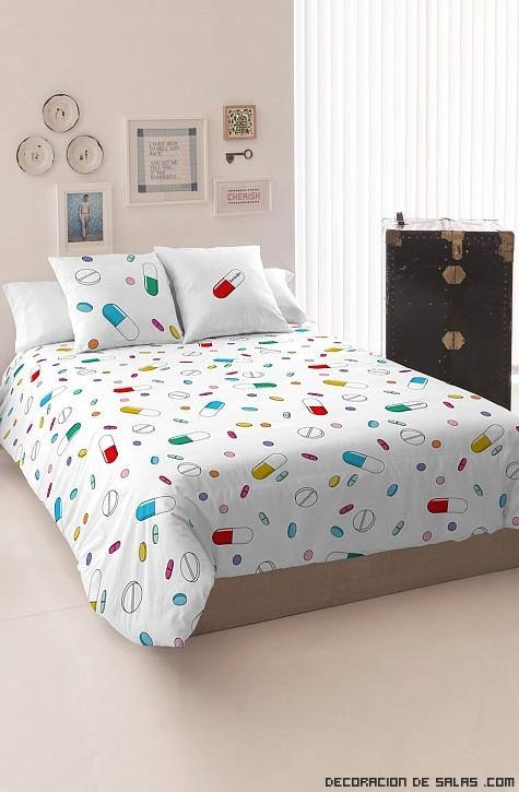 ropa de cama de colores