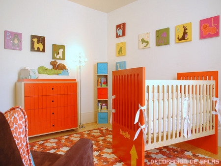 Habitacion del Bebe Naranja