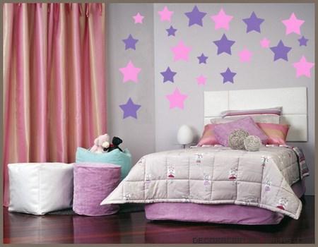 habitaciones infantiles con decoración de paredes