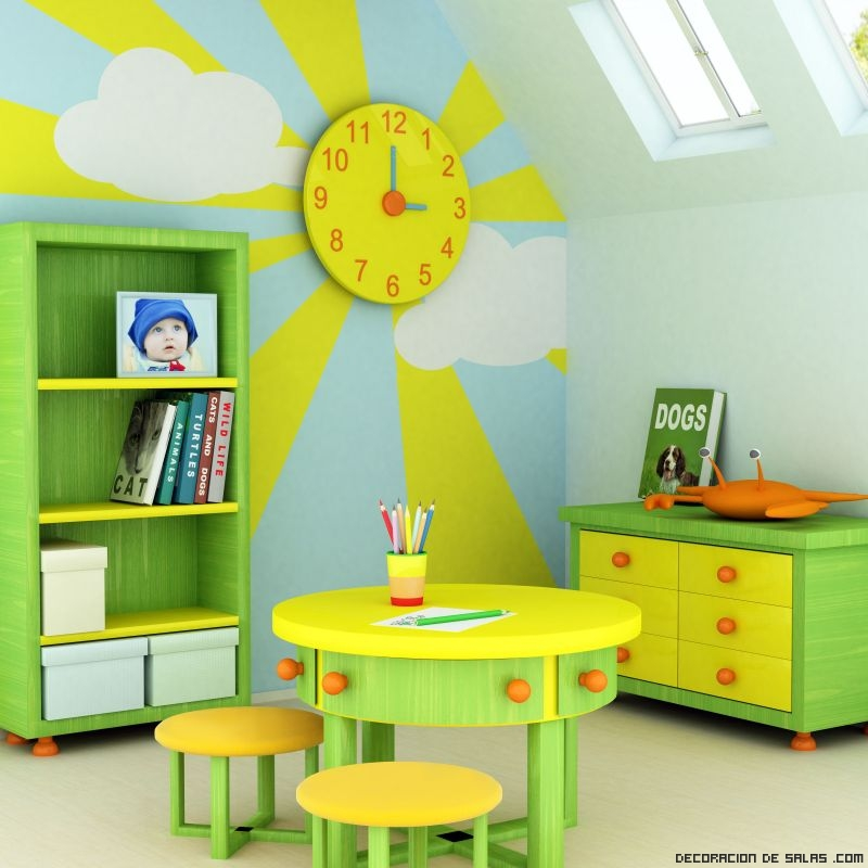paredes con dibujos para niños