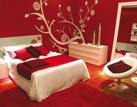 Dormitorios elegantes en colores vivos