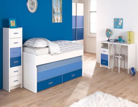 habitaciones con diferentes azules