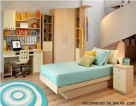 Habitaciones infantiles con colores modernos