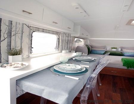interior de caravanas modernas