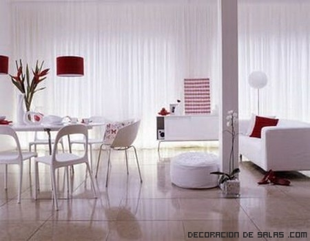 Ideas para un comedor en color blanco | Decoración de Salas