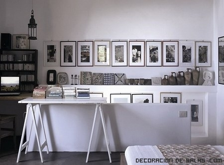 decorar con fotos en blanco y negro