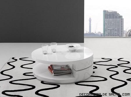 Mesas de centro elegantes en blanco