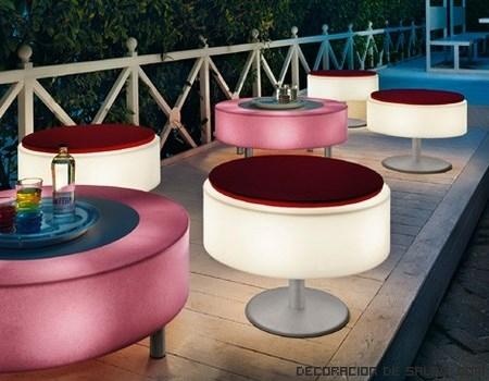 Mesas redondas de terraza