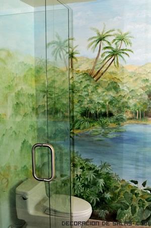 decoración con dibujos en las paredes